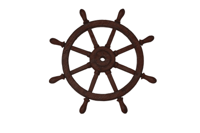 Pirate Prop Wheel Rudder Statue Resin Nautical Decor - LM Treasures Life Size Statues & Prop Rental