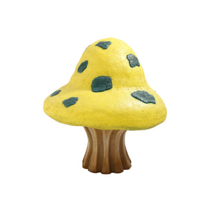 Yellow Fantasy Mushroom Over Sized Statue - LM Treasures