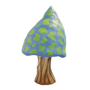 Blue Fantasy Mushroom Over Sized Statue - LM Treasures Life Size Statues & Prop Rental