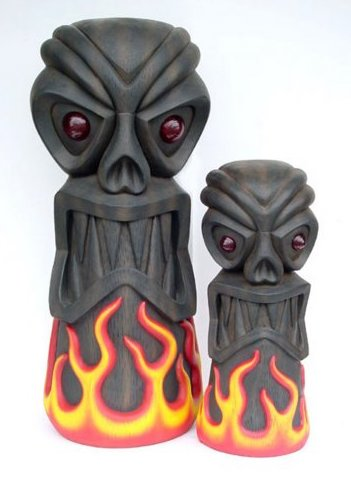 Fire Tiki Life Size Statue 6ft - LM Treasures Life Size Statues & Prop Rental
