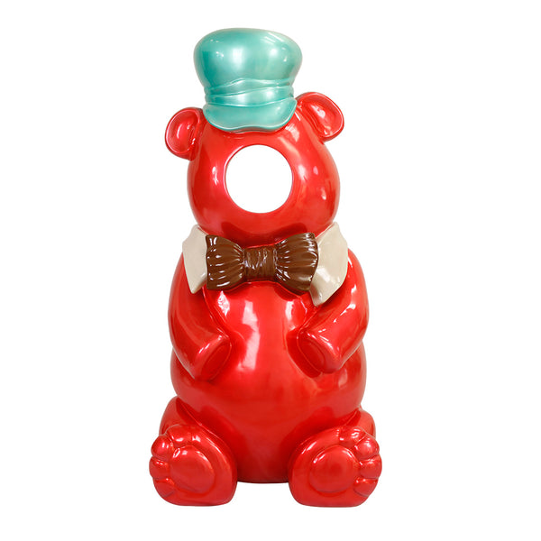 Red Gummy Bear Photo Op Over Sized Statue - LM Treasures Life Size Statues & Prop Rental