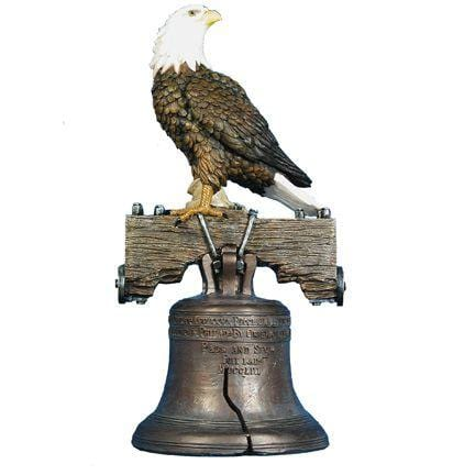 Bald Eagle On Bell Life Size Statue - LM Treasures Life Size Statues & Prop Rental
