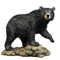 Bear Black Walking Forest Prop Life Size Decor Resin Statue - LM Treasures Life Size Statues & Prop Rental