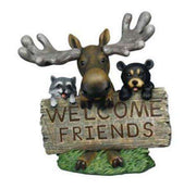 Rodent Welcome Sign Forest Prop Resin Decor Statue- LM Treasures