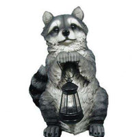 Rodent Raccoon Lantern Forest Animal Resin Decor Statue - LM Treasures Life Size Statues & Prop Rental