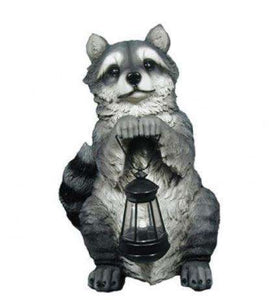 Rodent Raccoon Lantern Forest Animal Resin Decor Statue - LM Treasures