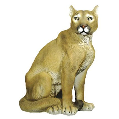 Lioness Sitting Table Top Safari Prop Resin Decor Statue - LM Treasures Life Size Statues & Prop Rental
