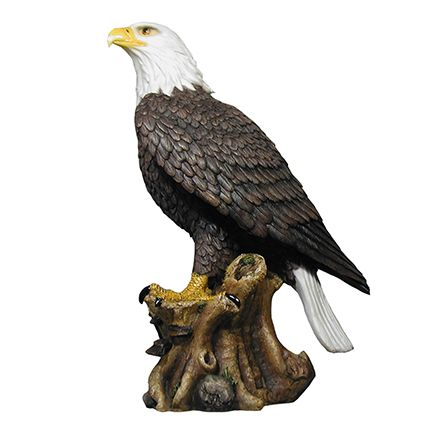 Bald Eagle On Branch Life Size Statue - LM Treasures Life Size Statues & Prop Rental