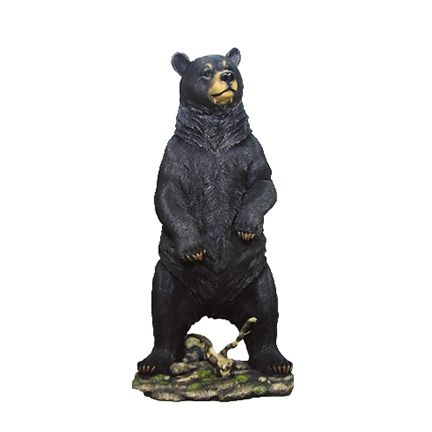Bear Black Standing Forest Prop Life Size Decor Resin Statue - LM Treasures Life Size Statues & Prop Rental