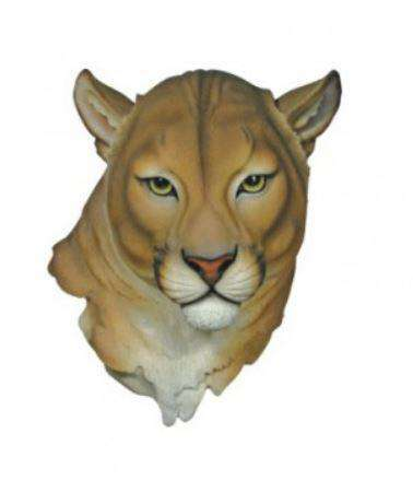 Cougar Head Animal Prop Life Size Resin Decor Statue - LM Treasures Life Size Statues & Prop Rental