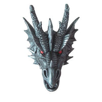 Dragon Head Metallic Wall Decor Mythical Prop Life Size Resin Statue - LM Treasures Life Size Statues & Prop Rental