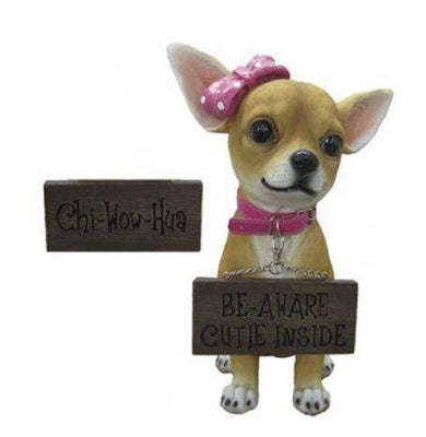 Dog Chihuahua Girl Animal Prop Life Size Deecor Resin Statue - LM Treasures Life Size Statues & Prop Rental