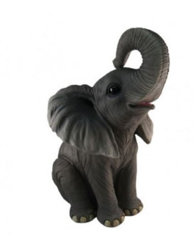 Elephant Sitting Table Top Statue - LM Treasures