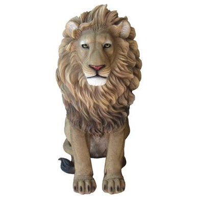 Lion Sitting Table Top Safari Prop Resin Decor Statue - LM Treasures Life Size Statues & Prop Rental