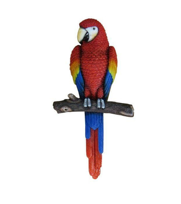 Bird Parrot Macaw Wall Decor Red Animal Prop Resin Statue - LM Treasures Life Size Statues & Prop Rental