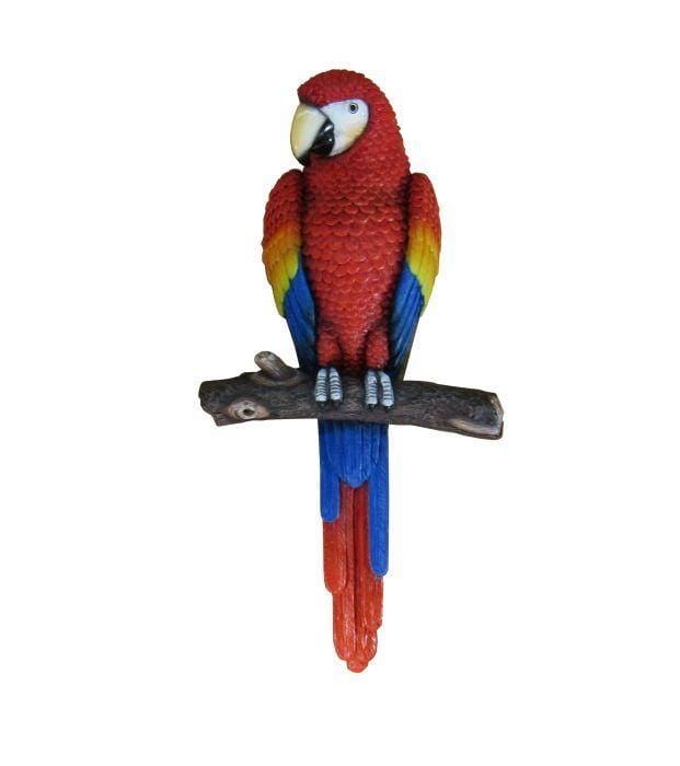 Macaw Parrot Wall Decor Statue - LM Treasures