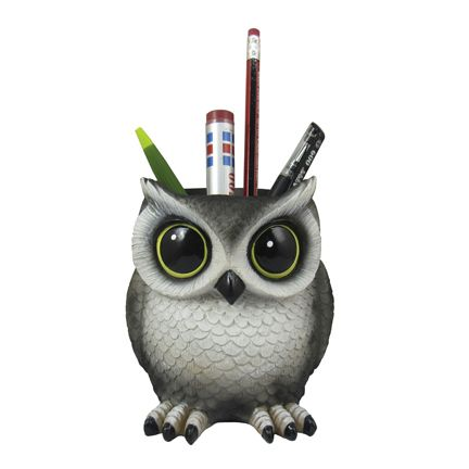 Owl Pen Holder Statue - LM Treasures Life Size Statues & Prop Rental