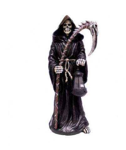 Grim Reaper Lantern Skeleton Goth Resin Decor Statue. - LM Treasures Life Size Statues & Prop Rental