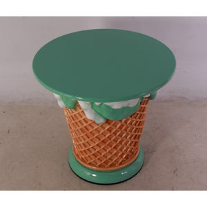 Mint Green Ice Cream Table Only Over Sized Statue - LM Treasures