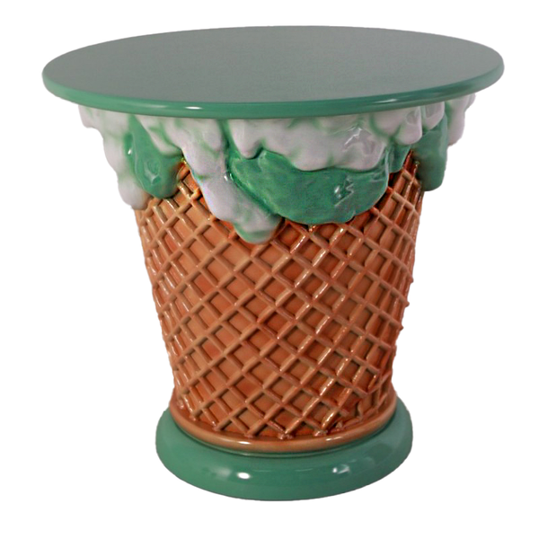 Mint Green Ice Cream Table Only Over Sized Statue - LM Treasures Life Size Statues & Prop Rental