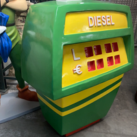 Gas Pump Green Life Size Statue - LM Treasures Life Size Statues & Prop Rental