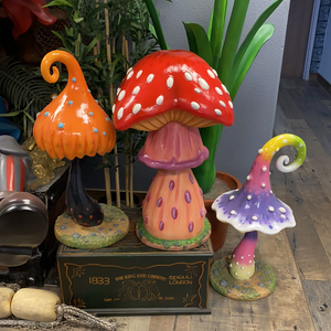 Poison Mushroom Over Sized Statue - LM Treasures Life Size Statues & Prop Rental