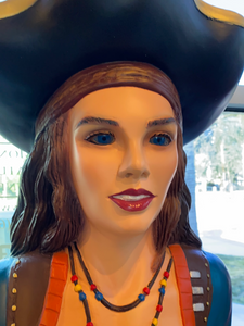 Large Lady Pirate Anne Life Size Statue - LM Treasures Life Size Statues & Prop Rental