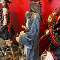 Pirate on Barrel Holding a Beer Life Size Statue - LM Treasures