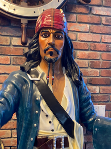 Pirate Captain Jack With Gun Life Size Statue - LM Treasures Life Size Statues & Prop Rental
