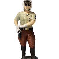 Policeman Highway Patrol Life Size Statue - LM Treasures Life Size Statues & Prop Rental