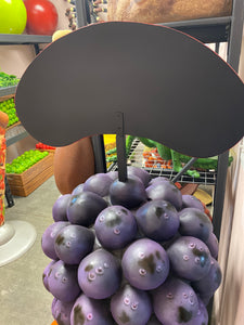 Bunch of Purple Grapes Over Size Statue Menu Board - LM Treasures Life Size Statues & Prop Rental