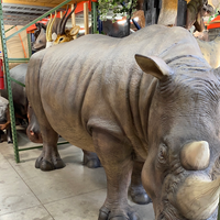 Realistic Rhinoceros Life Size Statue - LM Treasures Life Size Statues & Prop Rental