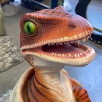 Raptor Dinosaur Hatching Life Size Statue - LM Treasures