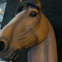 Brown Horse Head Life Size Statue - LM Treasures Life Size Statues & Prop Rental
