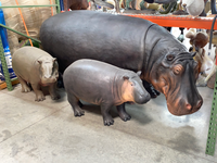 Realistic Hippopotamus Life Size Statue - LM Treasures Life Size Statues & Prop Rental
