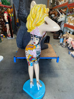 Retro Sexy Pop Lady Life Size Statue - LM Treasures