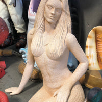 Stone Mermaid Sitting Life Size Statue - LM Treasures