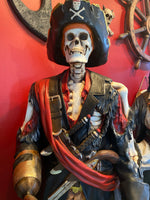 Pirate Captain Hook Skeleton Life Size Statue - LM Treasures Life Size Statues & Prop Rental
