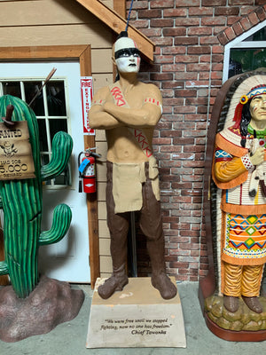 Indian Chief Rare Tobacco Company Promo Life Size Statue.- LM Treasures