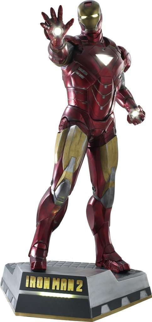 Iron Man 2 (Battle Version) Life Size Statue - LM Treasures