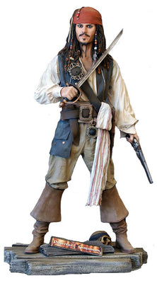 Pirates Of The Caribbean Jack Sparrow Life Size Rare Statue