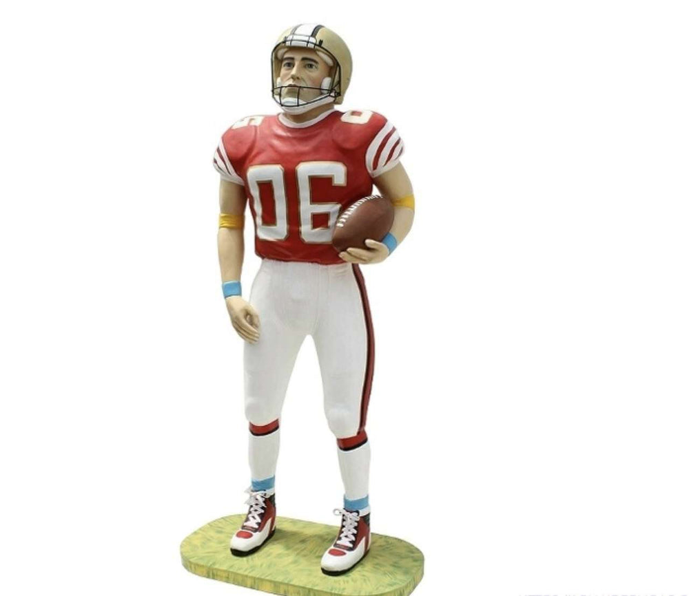 American Football Player Life Size Movie Prop Decor Statue - LM Treasures Life Size Statues & Prop Rental