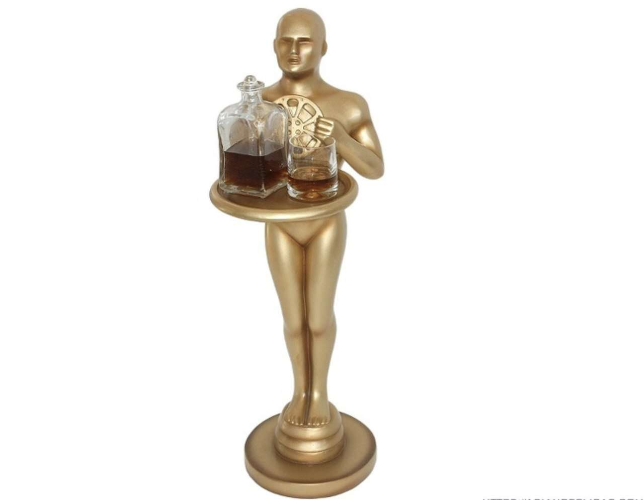 Hollywood Prop Trophy 3ft Butler Gold Movie Decor Resin Statue