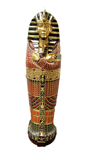 Egyptian Sarcophagus King Tut Life Size Statue - LM Treasures