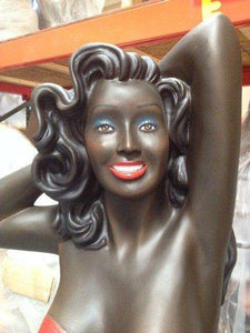 African American Retro 50s Bathing - LM Treasures Life Size Statues & Prop Rental