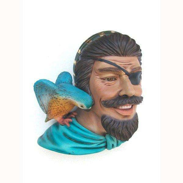 Pirate Captain One Eye Wall Decor Statue - LM Treasures Life Size Statues & Prop Rental