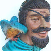 Pirate Captain One Eye Life Size Statue Resin Decor