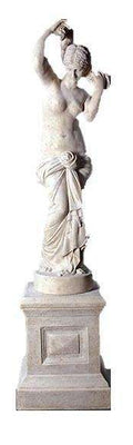 Stone Elizabeth Nude On Base Life Size Greek Roman Prop Resin Decor - LM Treasures Life Size Statues & Prop Rental