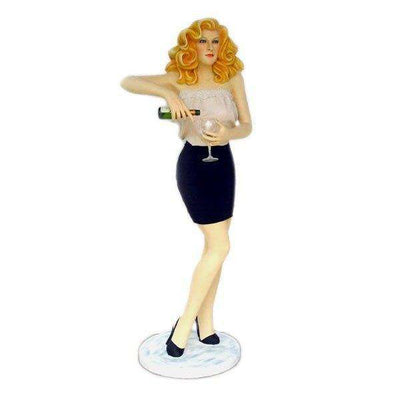 Woman Bar Tender Blonde Statue - LM Treasures Life Size Statues & Prop Rental