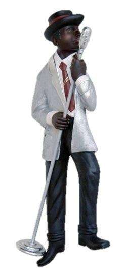 Jazz Band Singer Wall Decor - LM Treasures Life Size Statues & Prop Rental